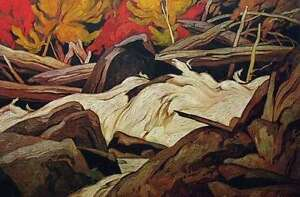 """A.J. Casson """"Below Ragged Falls"""" Lithograph - Appraised at $1000"""