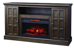 "Electric Fireplace 60"" Console Media Tv Stand"