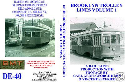 DVD: Brooklyn New York NYC Trolleys Volume 1