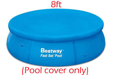 NEW BESTWAY FAST SET POOL COVER PROTECTOR WITH ROPES - BW58032 - 8ft