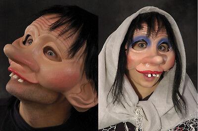 2 Bashfool Alt Man & Woman Maske Erwachsene Halloween Lustig Paare Kostüm Masken
