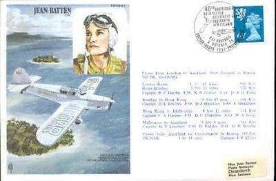 HA 9a Jean Batten New Zealand Historic Aviator RAF 1976 flown cover