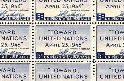 1945 - PEACE CONFERENCE - #928 Full Mint -MNH- Sheet of 50 Stamps