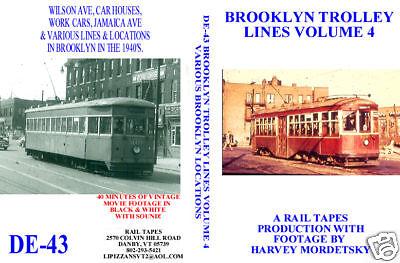 DVD: Brooklyn New York NYC Trolley Streetcar Volume 4 Light Rail Movie Reel