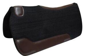 New Western Black Wool Felt Saddle Pad Blanket 24 x 24 PONY HORSE