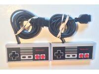 Nintendo nes controllers (x2 originals)
