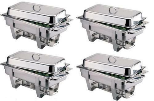 £5 Stainless Steel Chafing Dishes, Vases & Flowers,