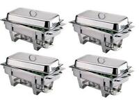 £5 9L Stainless Steel Chafing Dishes and Table decoration for hire!