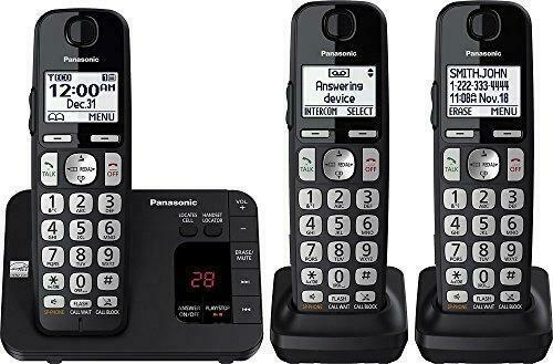 Panasonic DECT 6.0 Expandable Cordless Phone System with Answering Machine and