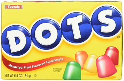 Dots Assorted Fruit Gumdrops Candy, 6.5 oz (1-Box)