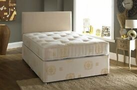 100% CHEAPEST PRICE GUARANTEED!! DOUBLE DIVAN BED WITH MATTRESS - FREE DELIVERY ANYWHERE IN LONDON