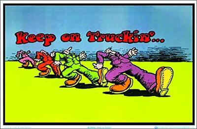 Keep on Truckin by R Crumb Blacklight Poster - Flocked - 35