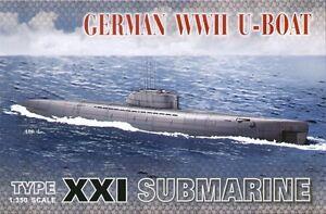 AFV-Club-1-350-Tedesco-SECONDA-GUERRA-MONDIALE-U-Boat-Tipo-XXI-Sottomarino