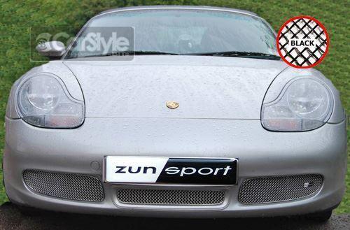 ZunSport Porsche Boxster 986 1996-2002 Black Steel Mesh Front Grille Set -S only