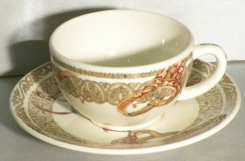 NEW Tea Cup & Saucer, Chevaux du Vent From GIEN