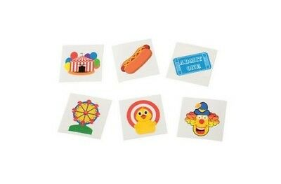 12 Under the Big Top Temporary Tattoos Circus Party Goody Loot Bag Favor Supply (Big Top Tattoos)