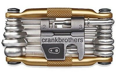 Crank Brothers Multi-19 Mini Bicicleta Herramienta Multi Oro