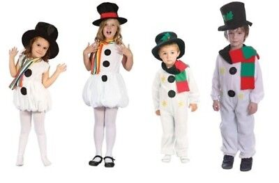 Kinder Schneemann Snowgirl Weihnachtskleidung Kostüm Jungen Mädchen Kleinkind