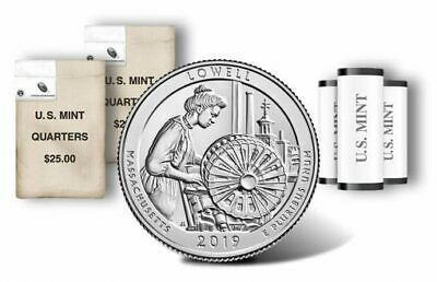 2019 P&D  ATB Lowell National Historical Park Mass MA Mint Quarter Coins Money -