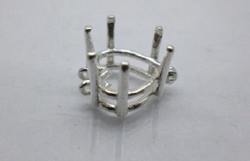 5x5mm - 10x10mm Pre-Notched Solid Sterling Silver Heart Bracelet Link Settings