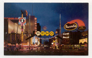 RENO-NV-NIGHT-STREET-SCENE-ARCH-UNUSED-POSTCARD-PC2754