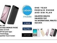 Prepaid Lebara mobile phone and sim plan
