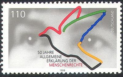 Germany 1998 Dove/Eyes/Birds/Human Rights 50th Anniversary/Animated 1v (n29651)