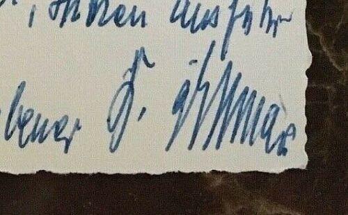 ORIGINAL - WW2 GERMAN ARMY GENERALLEUTNANT KURT DITTMAR AUTOGRAPHED NOTE