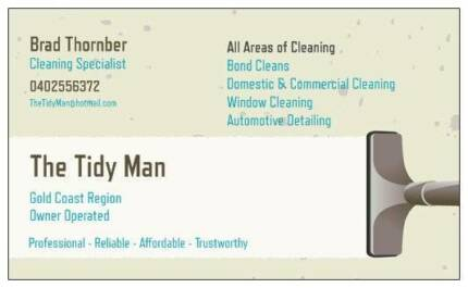 The Tidy Man - Cleaning Specialist, For all your cleaning needs! Upper Coomera Gold Coast North Preview