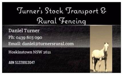 Turner's Stock Transport & Rural Fencing