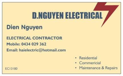 Local electrician FREE QUOTES