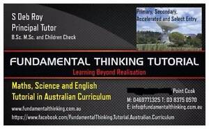 MATHS, ENGLISH AND SCIENCE TUTORIAL IN AUSTRALIAN CURRICULUM Point Cook Wyndham Area Preview