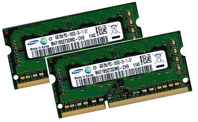 2x 4GB 8GB DDR3 RAM Speicher Acer Aspire 8935 8942 8943