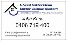 U NEED GUTTER CLEAN ,GUTTER VAC. Mount Gravatt East Brisbane South East Preview