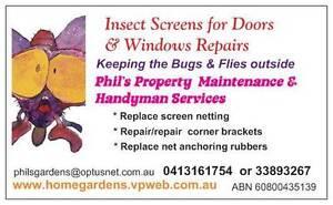 Phils Property Maintenance- Fly screen repairs