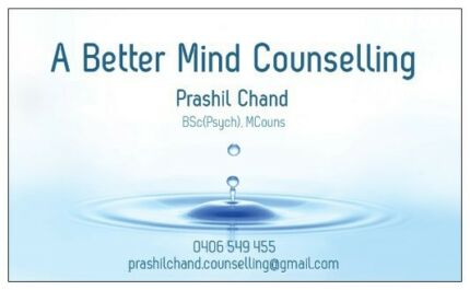 A Better Mind Counselling (!!! FIRST SESSION FREE !!!)