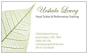 Urshula Leung - Vocal Tuition & Performance Training South Hobart Hobart City Preview