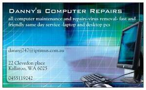 laptop pcs and apple pc repairs +refurbished laptops 4 sale Kallaroo Joondalup Area Preview