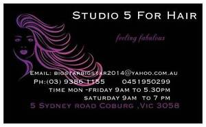 studio 5 for hair and beauty Coburg Moreland Area Preview