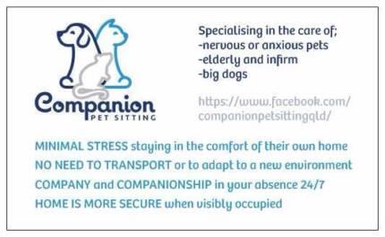 Companion Pet Sitting Brisbane Region