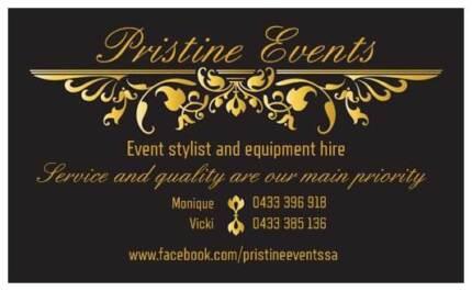 Pristine Events - Wedding and Event set up & hire Morphett Vale Morphett Vale Area Preview
