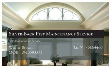 Silver-Back Pest Maintenance Service