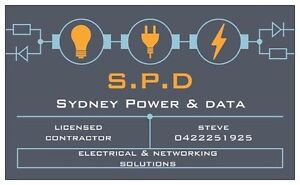 Sydney power & data- Licensed Electrician BEST RATES, FREE QUOTES. Blacktown Blacktown Area Preview