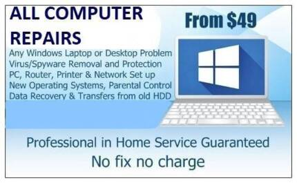 COMPUTER REPAIRS from $49 Coomera to Banora Point No Call out Fee