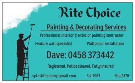 RITE CHOICE PAINTING & DECORATING Applecross Melville Area Preview