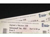 England v Pakistan T20 tickets 07.09.2016