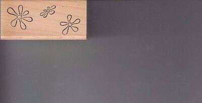 """snowflakes ann-ticipations Wood Mounted Rubber Stamp 2 x 3/4""""  Free Shipping"""