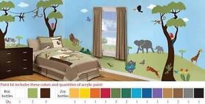 Jungle Safari Theme Stencil Kit for Painting a Wall Mural Parkwood Canning Area Preview