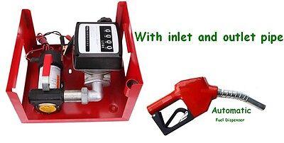 Us Fuel Transfer Pump Station 12v Dc 10gpm Diesel Kerosene Dispenser 155w