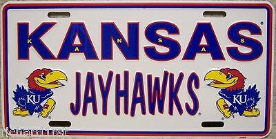 Ncaa Aluminum License Plate Kansas Jayhawks New